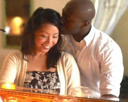 Asian woman & Black man