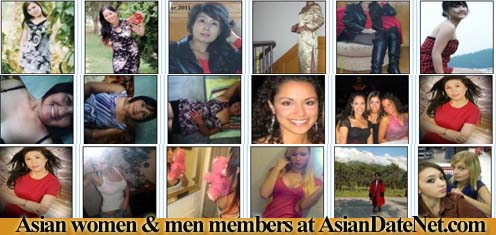 Asian women & men at Asiandatenet.com