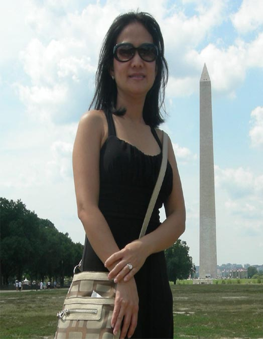 Asian American woman at Monument in DC