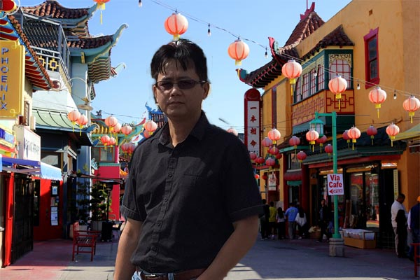 Asian American man in Chinatown LA