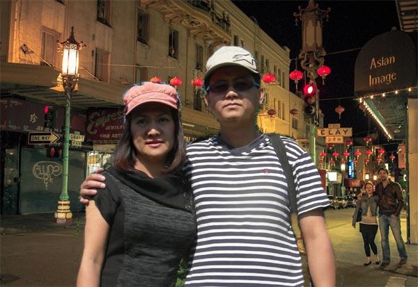 Asian man and Asian woman at Chinatown SF